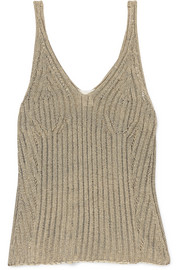 Chloé Ribbed cotton-blend tank