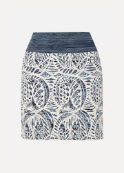 Chloé Stretch jacquard-knit mini skirt
