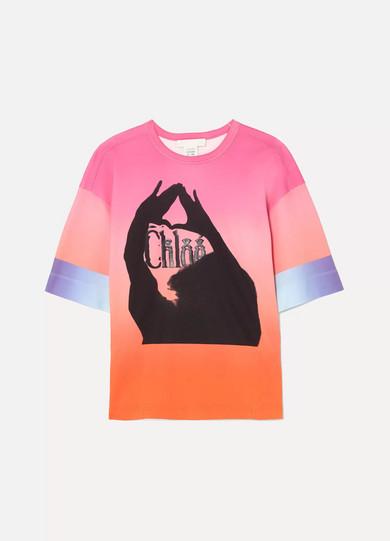 3a779190 Oversized printed ombré mercerized cotton-jersey T-shirt