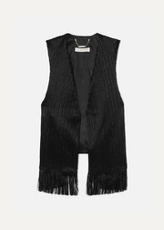Chloé Fringed crushed-velvet vest