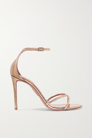 Aquazzura Purist mirrored-leather sandals