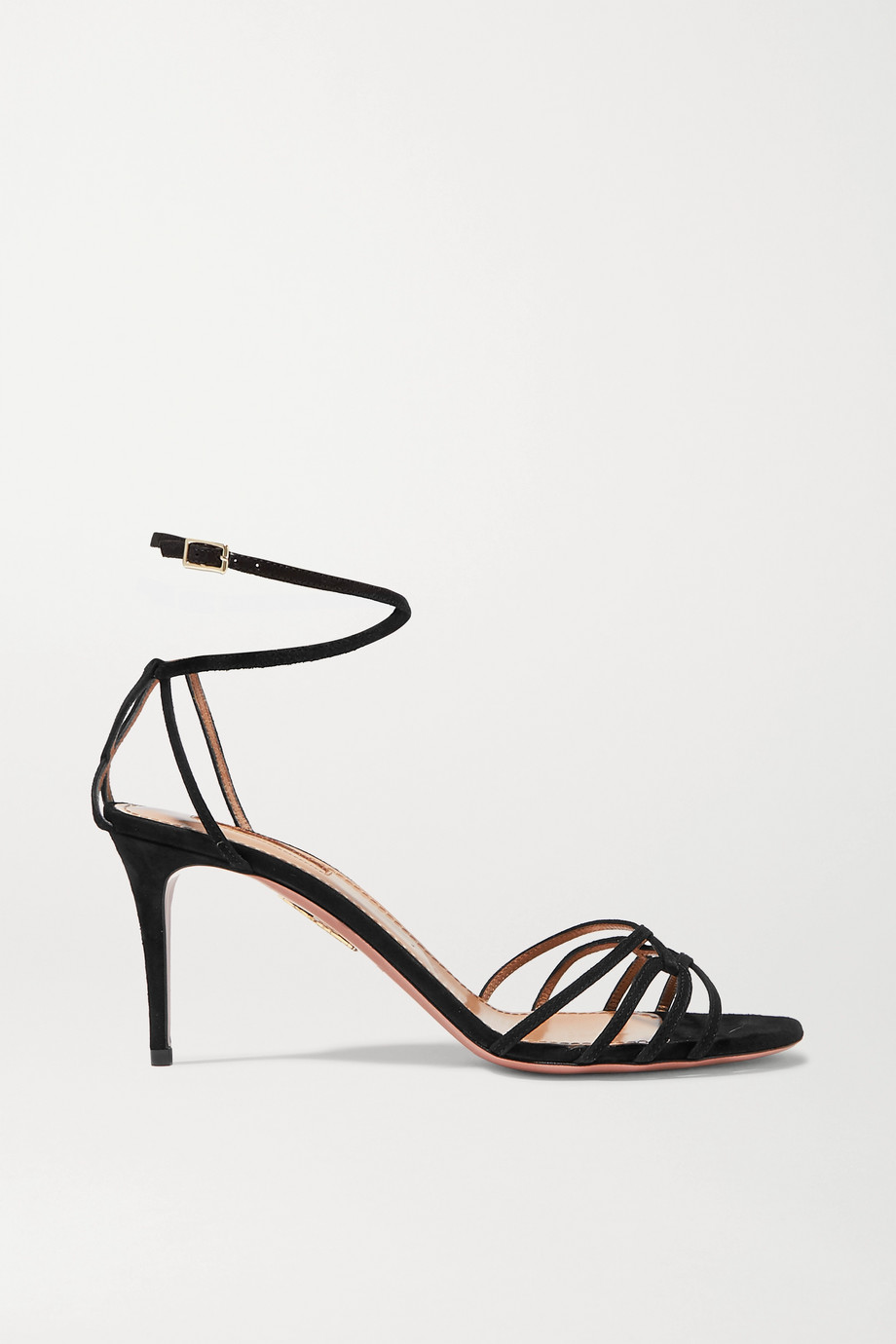 Aquazzura Very First Kiss 75 suede sandals