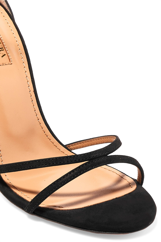 Aquazzura Purist 105 Sandalen aus Veloursleder