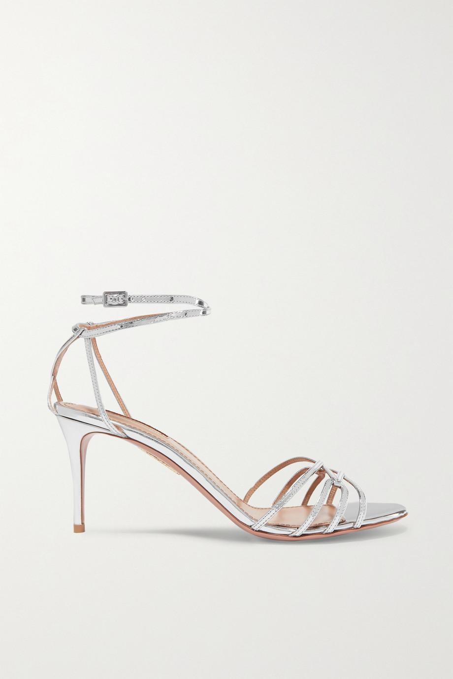 Aquazzura Very First Kiss 75 metallic leather sandals