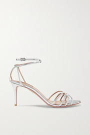 Aquazzura First Kiss metallic leather sandals