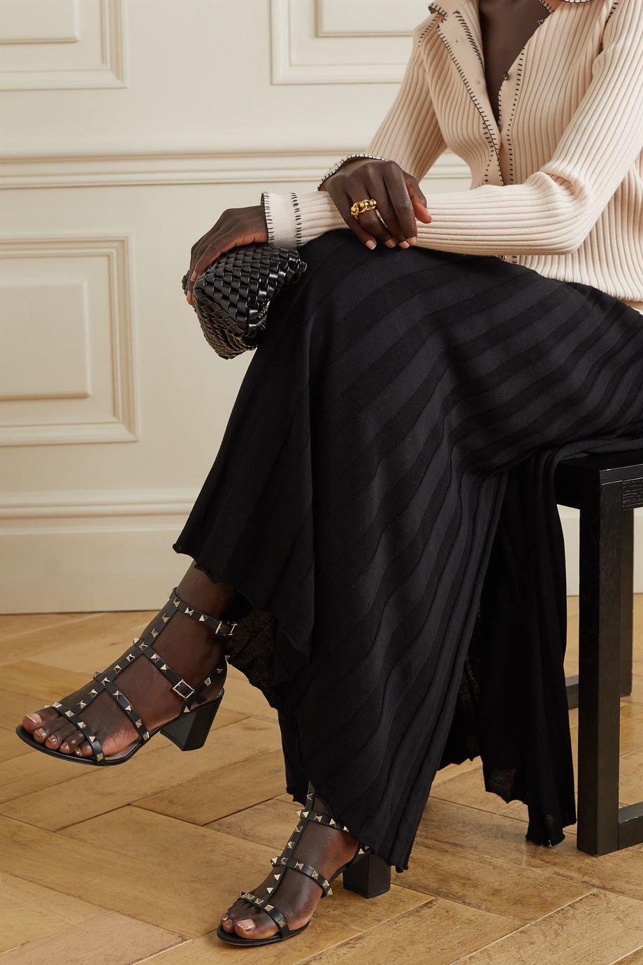 Valentino Valentino Garavani Rockstud 60 leather sandals