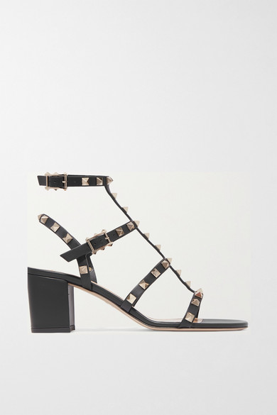 86b63cdb5701 Valentino Rockstud Ankle Strap Sandal With Tonal Studs 60 Mm In Black