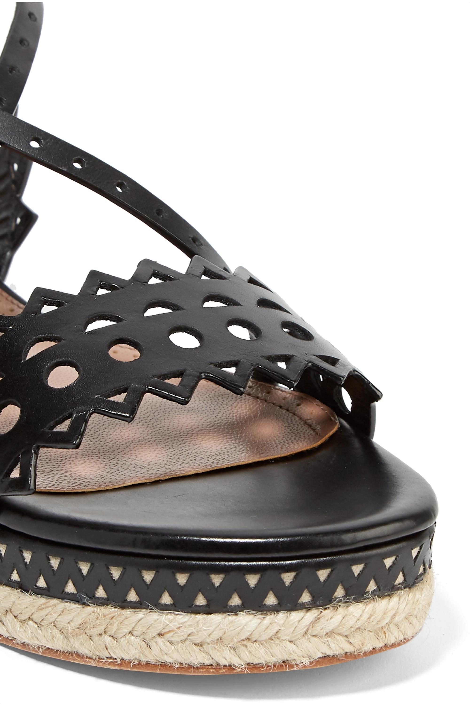 Alaïa 20 laser-cut leather sandals