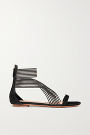 Alaïa Suede and mesh sandals