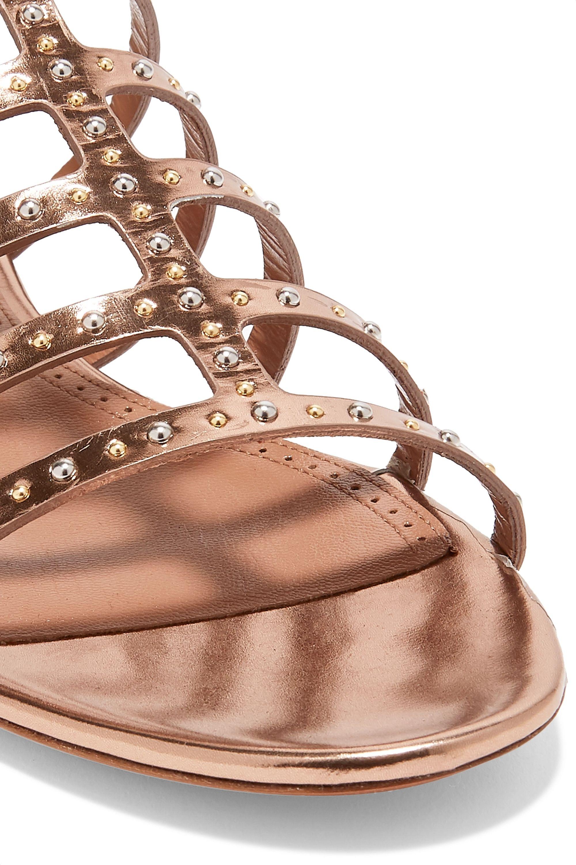Alaïa Studded metallic leather sandals