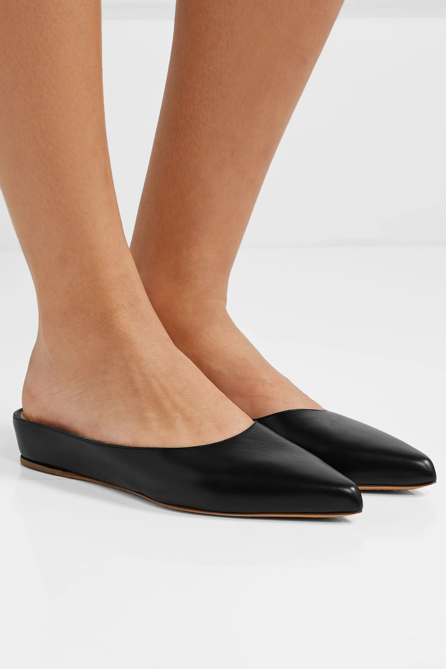 Gabriela Hearst Martin leather slippers