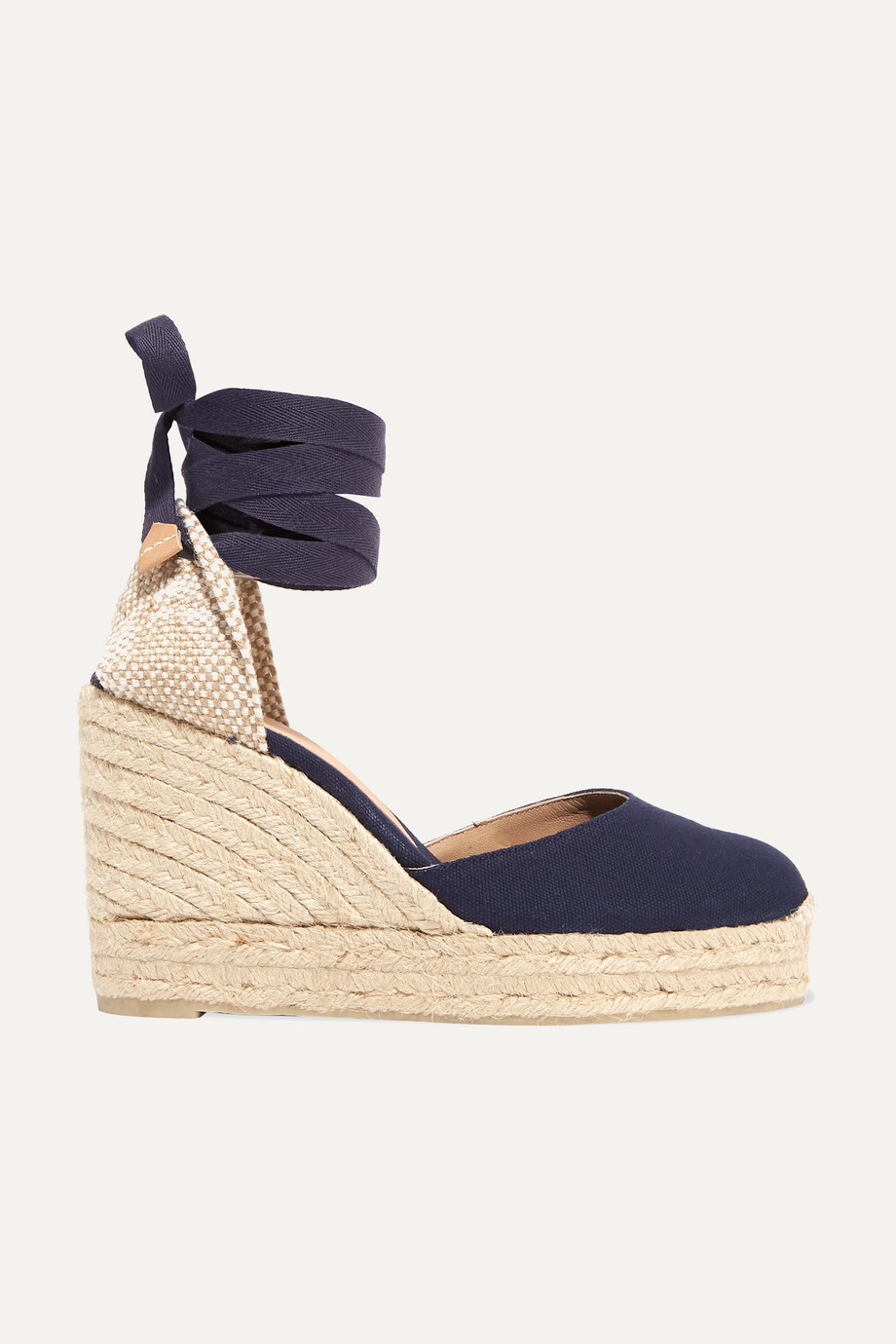 Castañer Carina 100 canvas wedge espadrilles