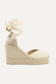 Chiara 80 canvas wedge espadrilles