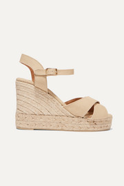 Castañer Blaudel 100 canvas wedge sandals