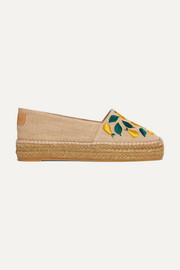 Kenda embroidered canvas espadrilles