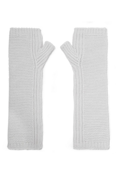 JOHNSTONS OF ELGIN Cashmere Wristwarmers in White