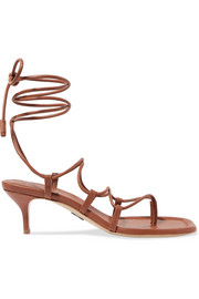 Wrap It Up leather sandals