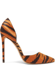 Alexandre Vauthier Angelina tiger-print satin and PVC pumps