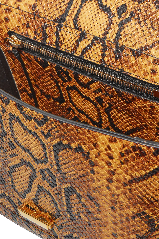 Wandler Luna snake-effect leather shoulder bag