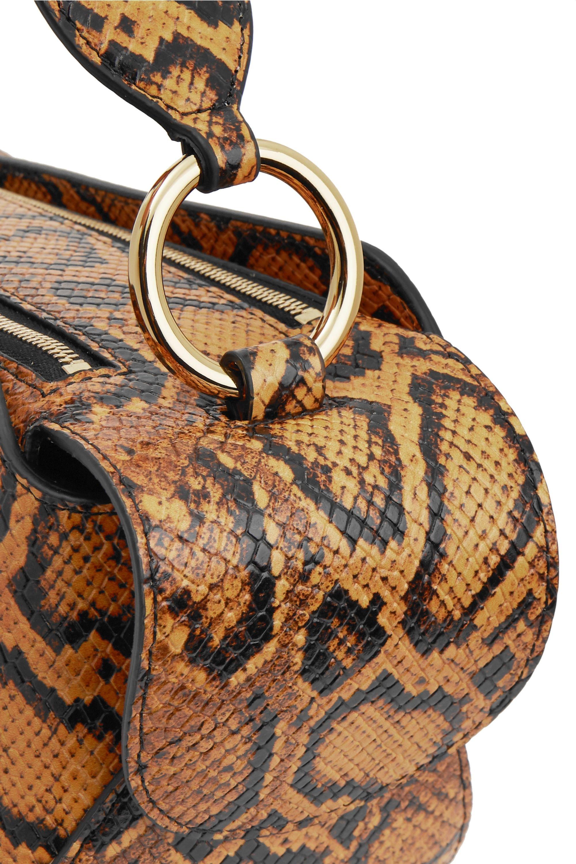 Wandler Yara snake-effect leather shoulder bag