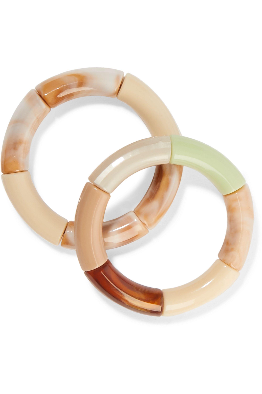 Kyoto Tango Wild Joy! and Swish Swash Set of two resin bangles