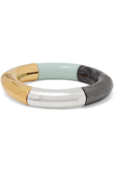 KYOTO TANGO Shiiiiiing Resin And Gold And Silver-Plated Bangle