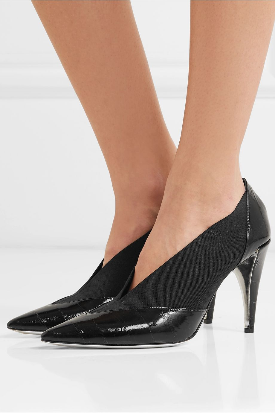 Givenchy Croc-effect leather and elastic pumps