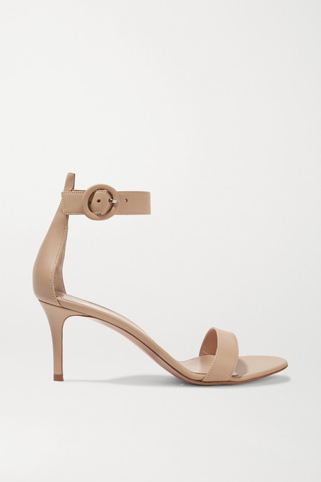 Beige Portofino 70 leather sandals | Gianvito Rossi ZHyWGt