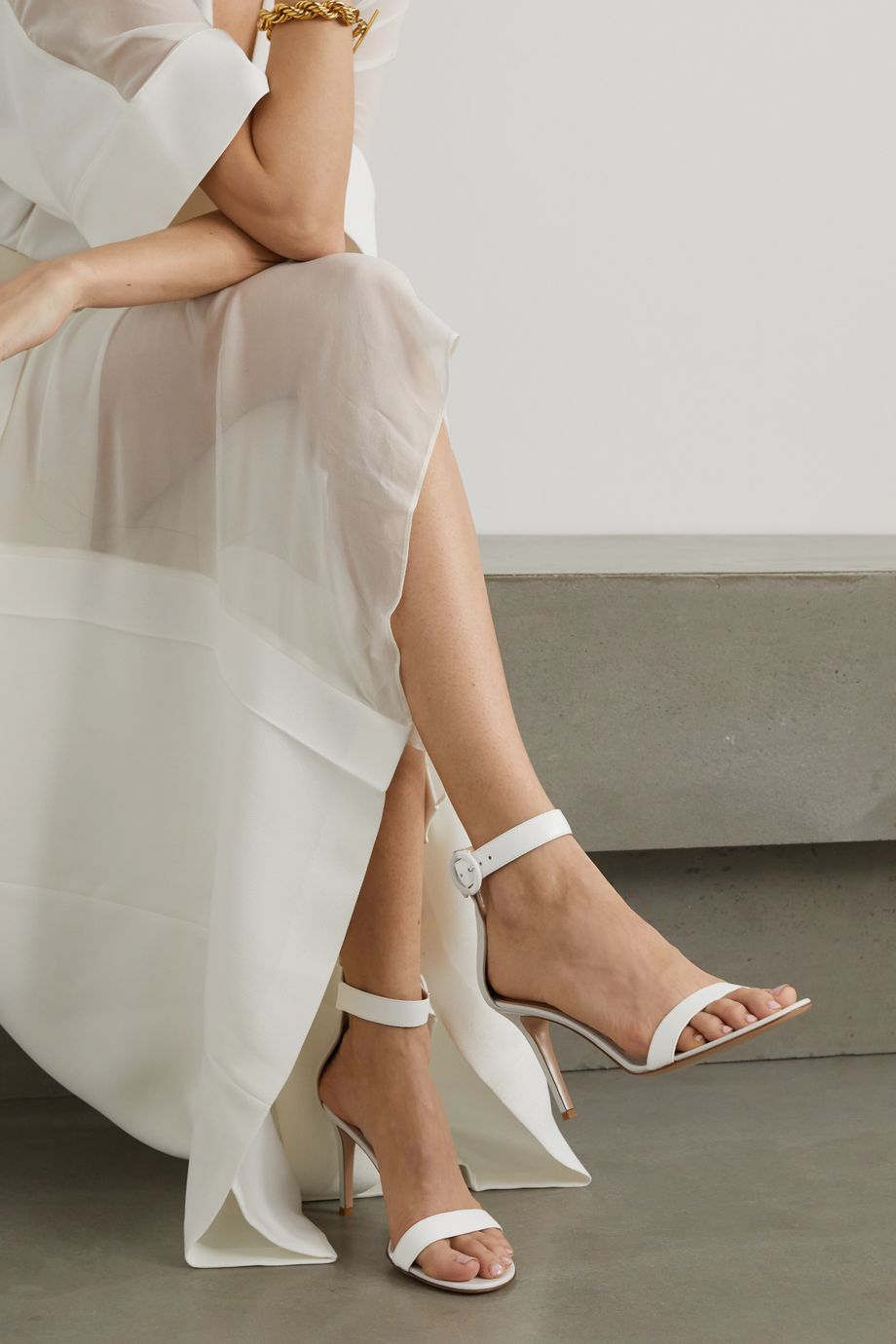 Gianvito Rossi Portofino 85 leather sandals