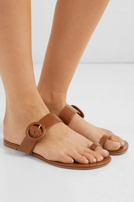 Buckled leather sandals