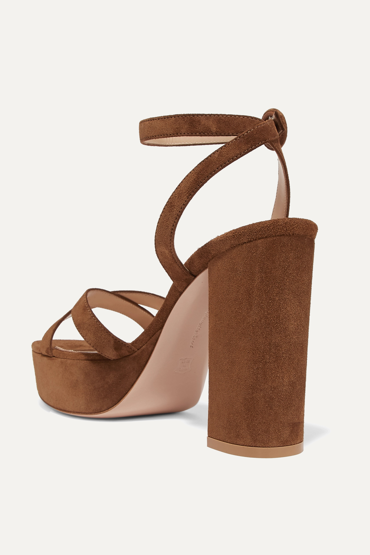 Gianvito Rossi Poppy 100 suede platform sandals