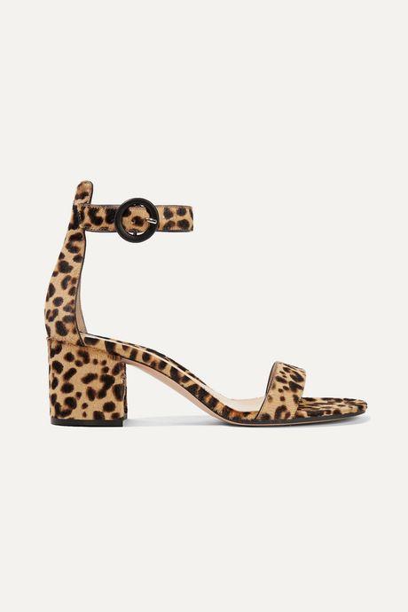 Leopard print Versilia 60 leopard-print calf hair sandals  | Gianvito Rossi ZND5Jt