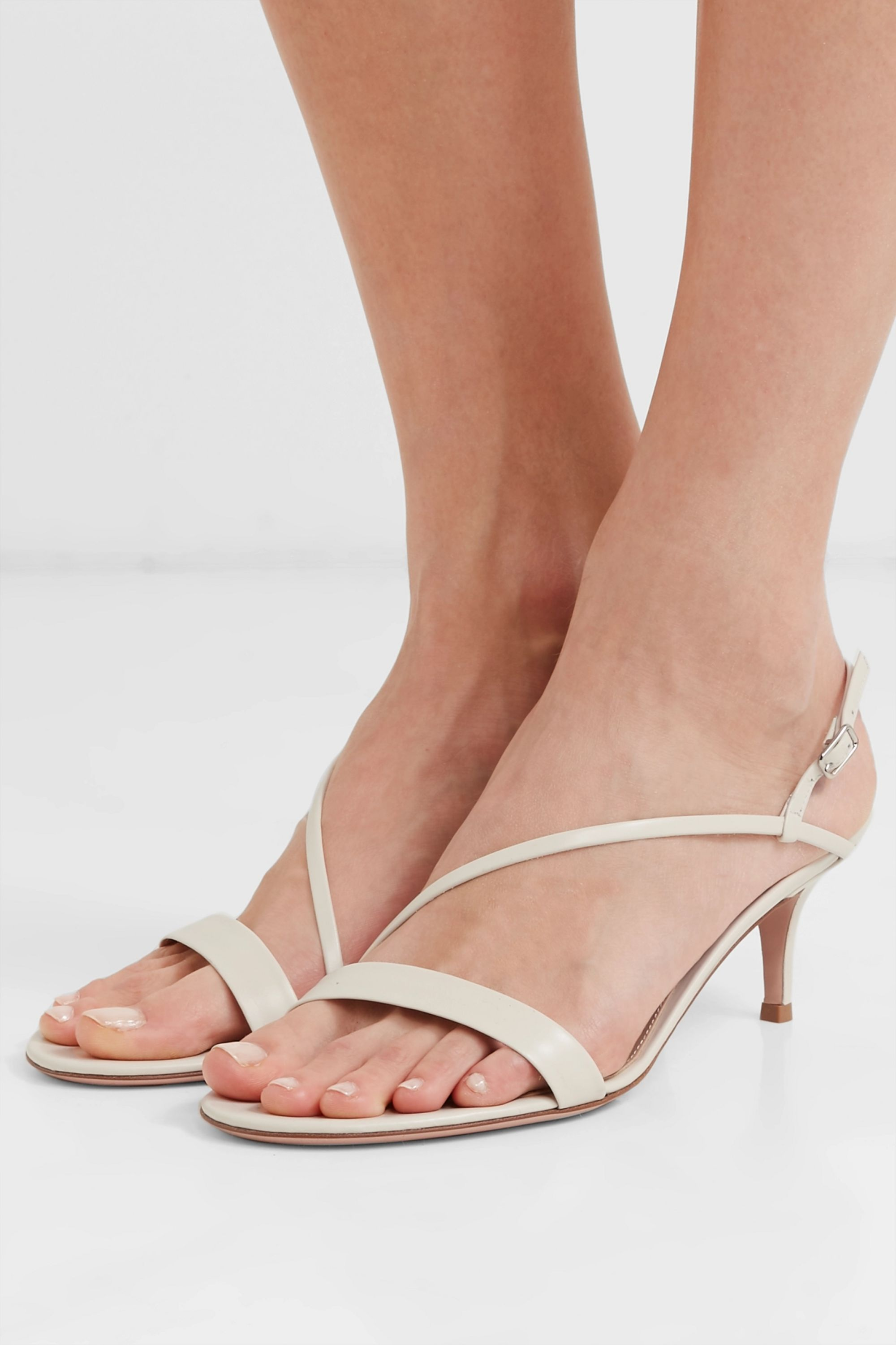 Off-white 55 leather slingback sandals