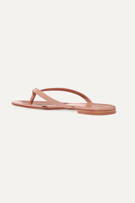 Taupe Leather flip flops  | Gianvito Rossi k0OmV4