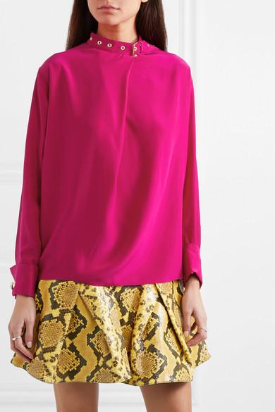 755e7be783823d Marques  Almeida. Buckled silk-satin blouse