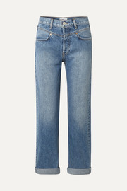 RE/DONE Double Yoke high-rise straight-leg jeans