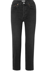 RE/DONE Stovepipe Comfort Stretch cropped high-rise straight-leg jeans