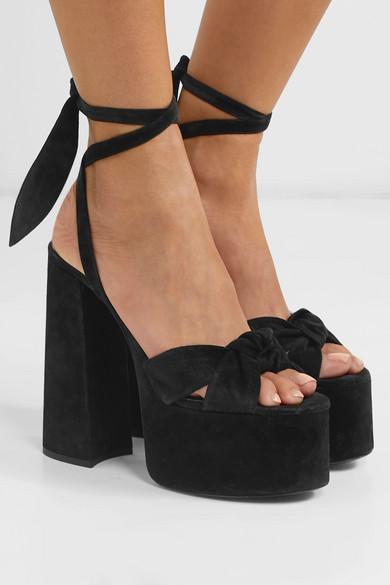 e283697b9f6 Saint Laurent. Paige suede platform sandals