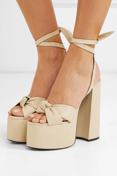 9a9a890329c1 Saint Laurent. Paige leather platform sandals