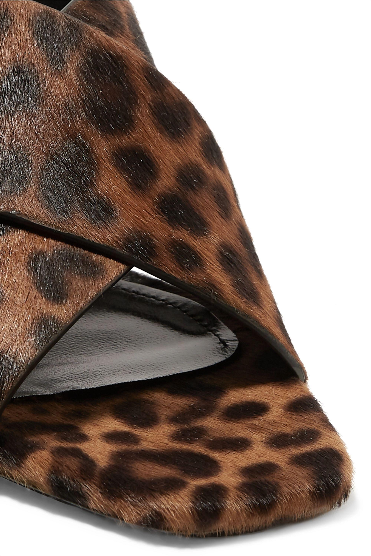 SAINT LAURENT Loulou leopard-print calf hair mules