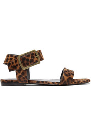 Oak leopard-print calf hair sandals