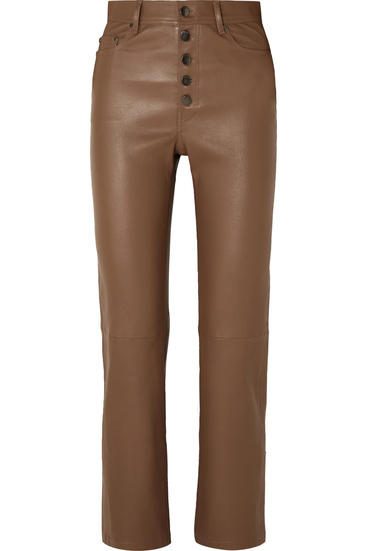 Joseph Den leather straight-leg pants