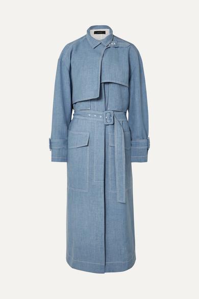 Joseph Coats Warrick linen-blend trench coat