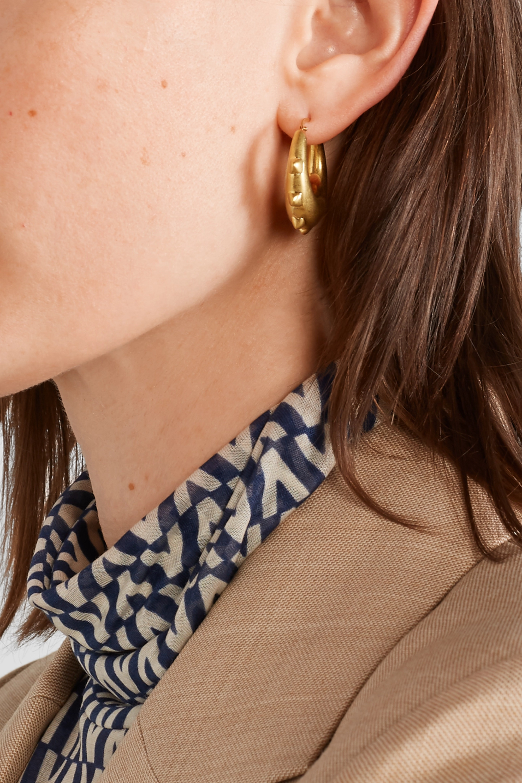 Valentino Valentino Garavani gold-tone hoop earrings