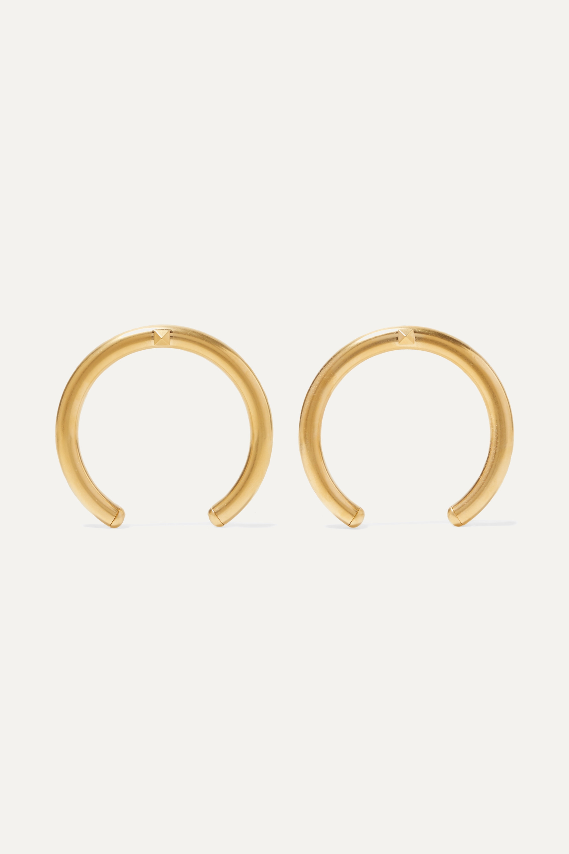 Valentino Valentino Garavani The Rockstud oversized gold-tone earrings
