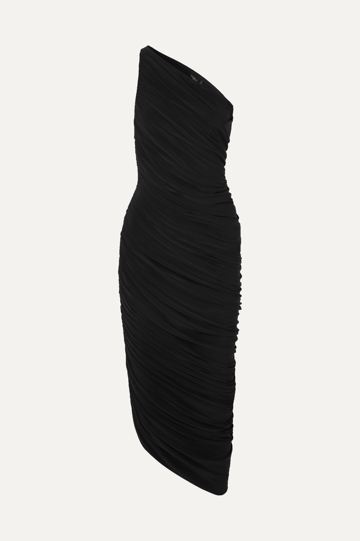Norma Kamali Robe asymétrique en jersey stretch à fronces Diana