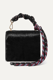 Dries Van Noten Rope and leather-trimmed pony hair shoulder bag