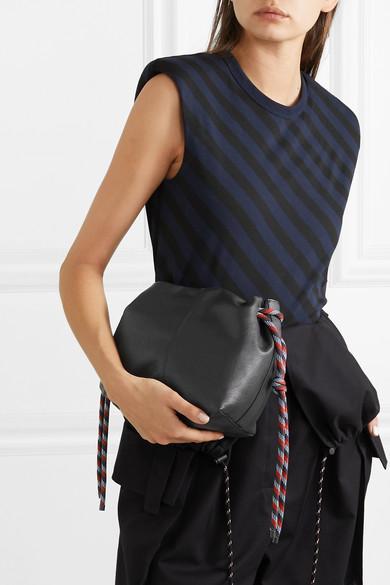 Dries Van Noten Shoulder Rope-trimmed leather shoulder bag