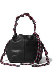 Dries Van Noten Rope-trimmed leather shoulder bag