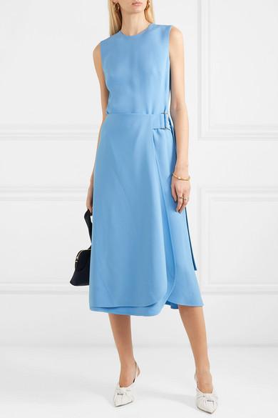Victoria Beckham Dresses Belted cady midi dress